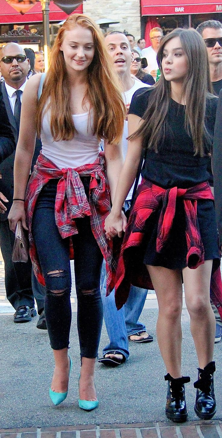 Sophie Turner and Hailee Steinfeld at the Barely Lethal screening in Los Angeles