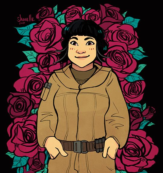 SPACE ROSE  The Last Jedi I was so happy when Kelly Marie Tran was cast in Star Wars, and Rose is by far the character I'm most excited to meet!!
