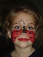 Ladybug face painting