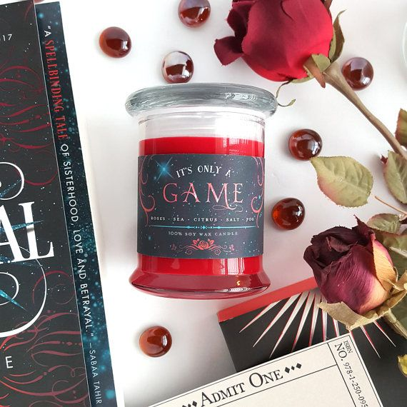 It's Only a Game // Caraval 8oz Jar Candle  Scented by IceyDesigns