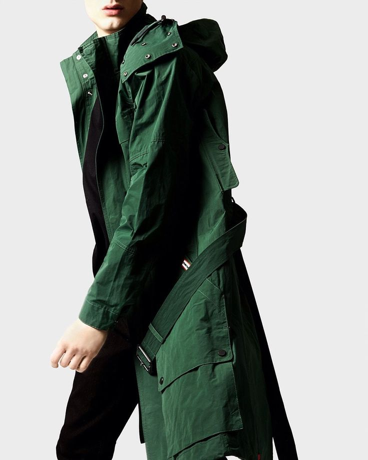 Hunter Original Memory Nylon Fishtail Parka Green LXL £320 CP Mod ...