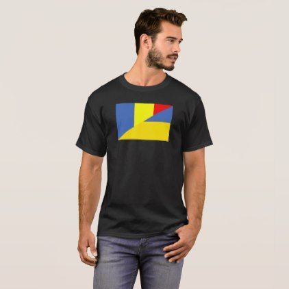 #romania ukraine flag country half symbol T-Shirt - #country gifts style diy gift ideas
