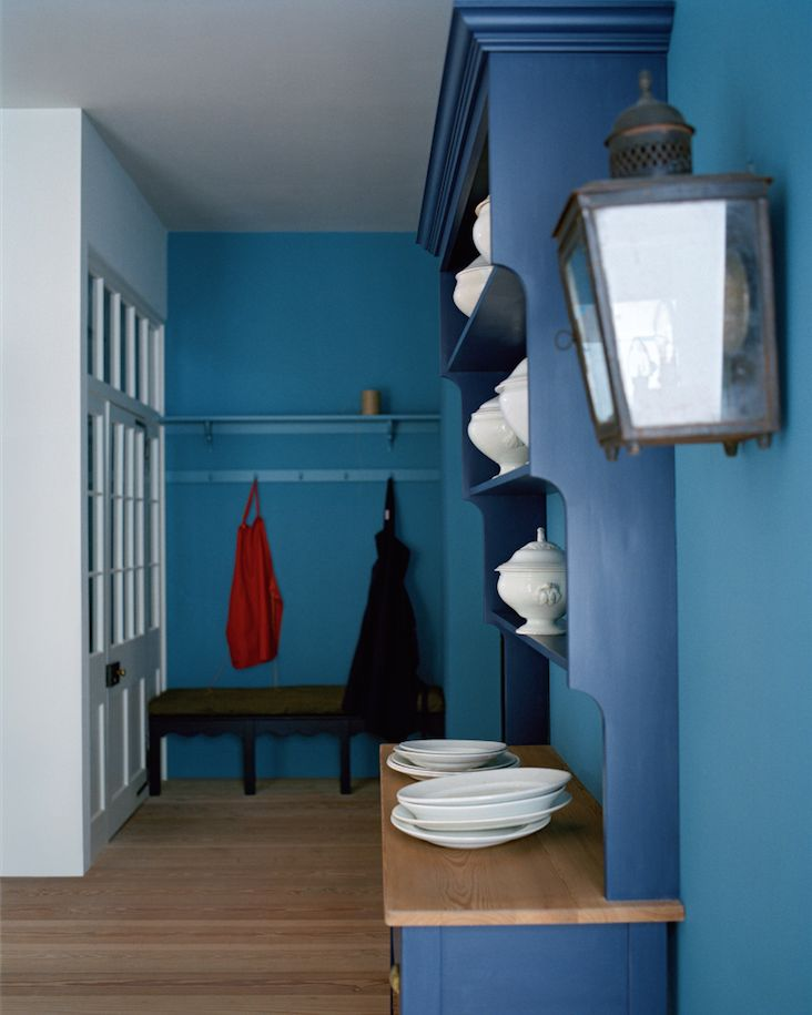 'Hallway' by Plain English | Walls painted in 'Scullery Latch' & '