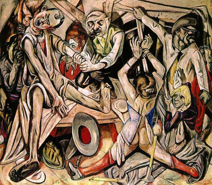 'The Night', Oil On Canvas by Max Beckmann (1884-1950, Germany)