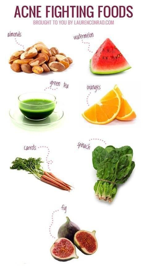 Acne fighting foods that are good for you~~