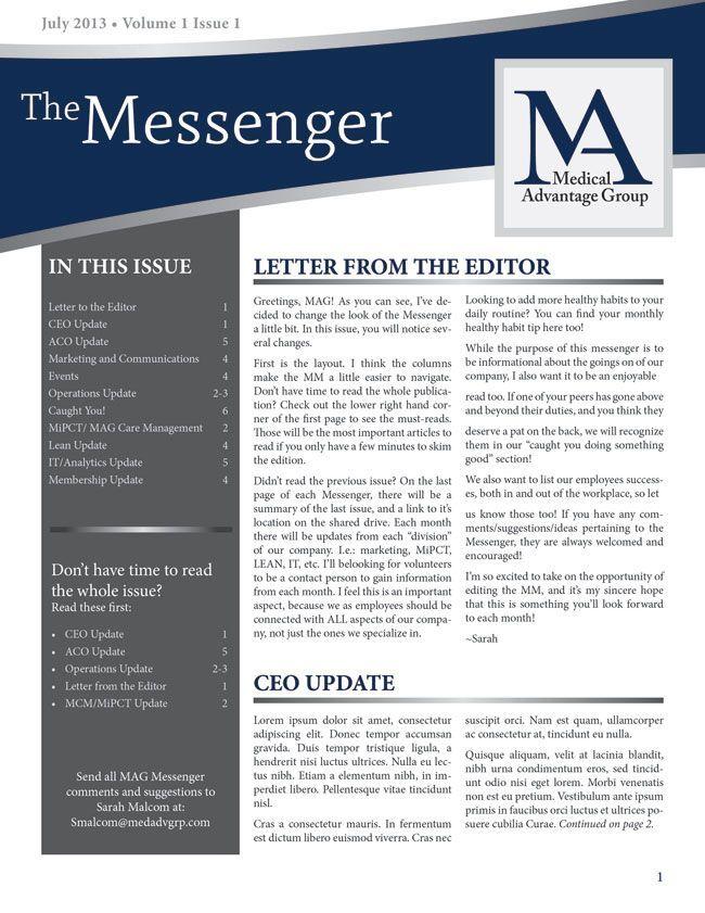 newsletter style - zeobadboy.tk | Business newsletter design ...