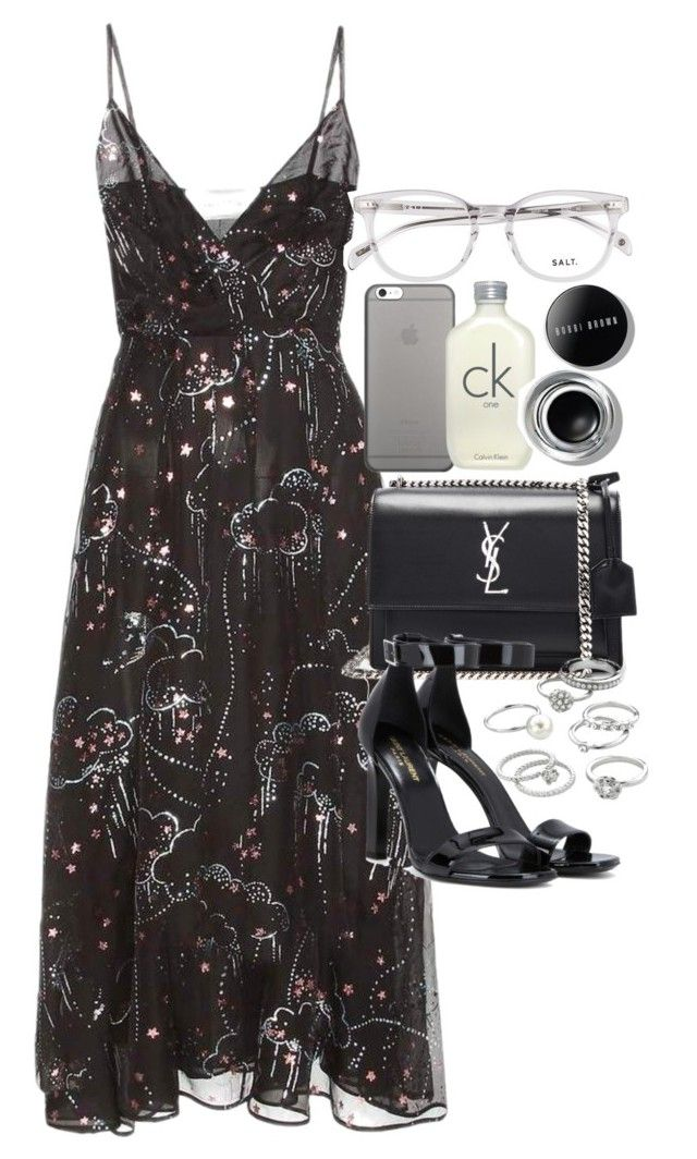 """""""Outfit with a dress for prom"""" by ferned on Polyvore featuring Valentino, Yves Saint Laurent, Candie's, Native Union, Calvin Klein and Bobbi Brown Cosmetics"""