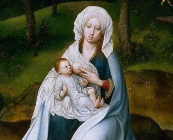 Detail la vierge a l enfant