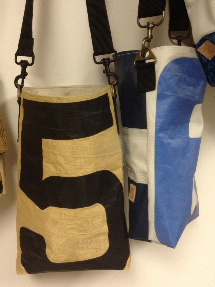 Recycled sailcloth number bags