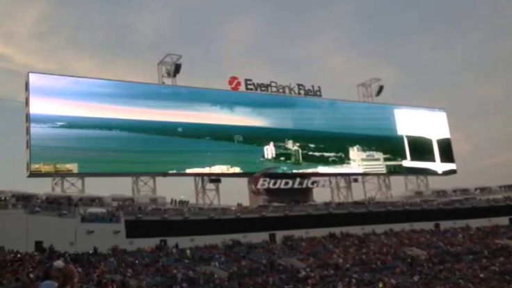 Jacksonville Jaguars Unveil Giant New Scoreboards at EverBank Field NFL
