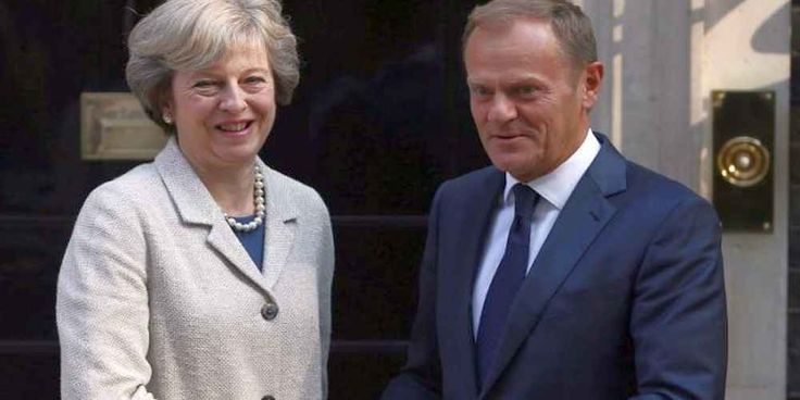 """Top News: """"UK POLITICS: EU to Theresa May: 'No Brexit Bill, No Trade Talks'"""" - https://i1.wp.com/politicoscope.com/wp-content/uploads/2016/09/Theresa-May-and-Donald-Tusk-UK-EU-News.jpg?fit=1000%2C500 - """"We can only start talking about a new EU-UK relationship if sufficient progress has been achieved in the three main withdrawal areas: citizens' rights, the financial settlement and the border issue on the island of Ireland.""""   on Politics - http://politicoscope.com/2017/"""