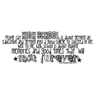 Quotes About High School Life Tumblr high school fri...