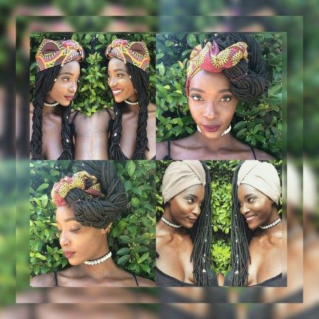 NAPPYESE TV:5 FRESH WAYS TO STYLE LONG LOCS/BRAIDS WITH AFRICAN HEADWRAPS   #protectivestyles #headwraps #africanprints #africanwoman #naturalhair #locs #longlocs #fauxlocs