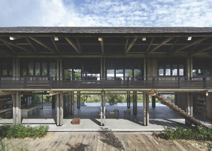 WHBC designs a house in Malaysia made from reclaimed telegraph poles