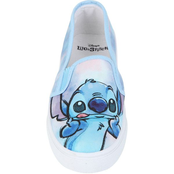 Disney Lilo Stitch Slip-On Shoes Hot Topic ($25) ❤ liked on Polyvore featuring shoes, synthetic shoes, blue slip on shoes, slip on shoes, slipon shoes and disney