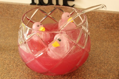 pink baby shower punch babies pinterest
