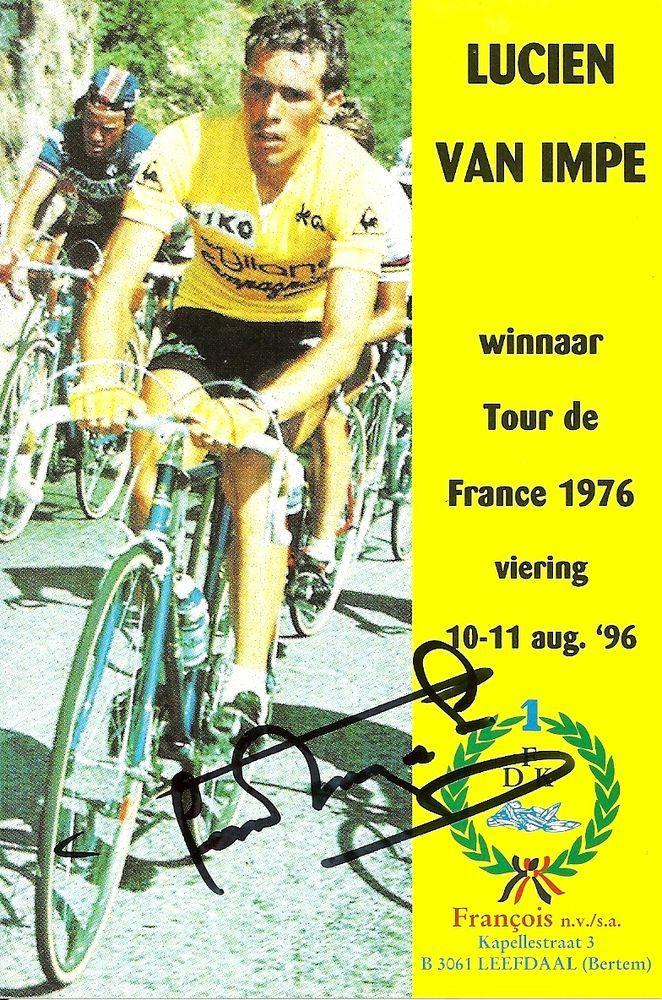 original autograph : lucien van impe / 1976 tour de france winner from $35.0