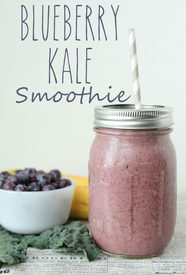 Blueberry Kale Smoothie - Get your Greens in!  I promise you won't even taste them! www.greennutrilabs.com