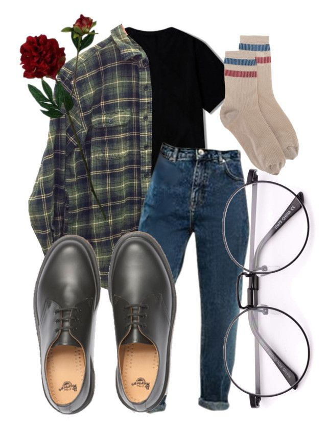 """come together right now"" by qimmig on Polyvore featuring Dr. Martens, RED Valentino and Laura Cole"