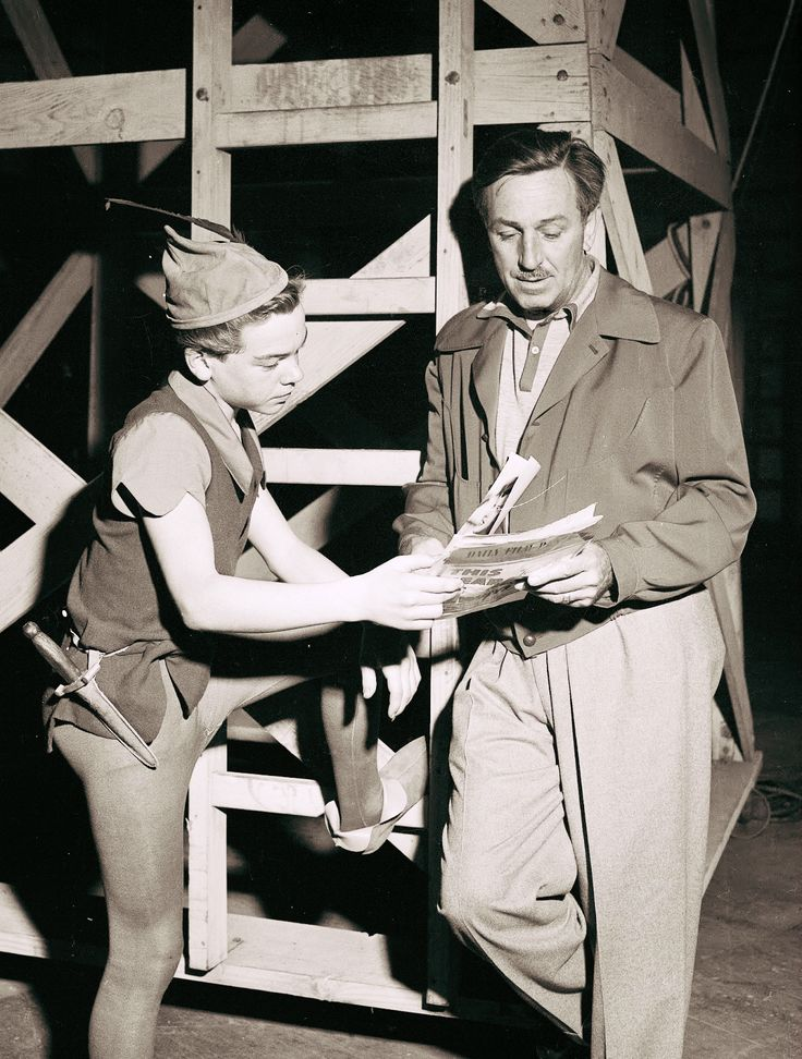 Walt Disney - I believe this is Bobby Driscoll, Peter Pan.