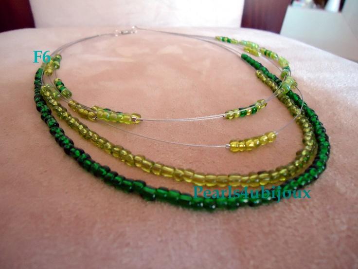 colar verde   FACEBOOK: Pearls4Ubijoux