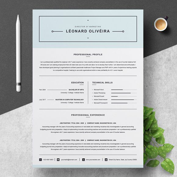 Clean Resume Template Simple CV by ResumeInventor on - simple resume examples for college students