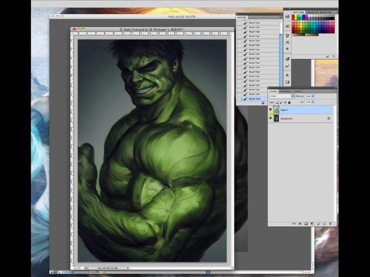 Digital Painting August 2012 on Livestream
