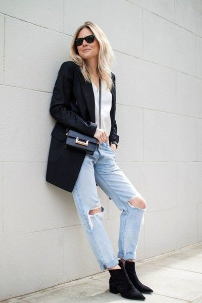 Blazers And Torn Jeans - Casual Outfit Ideas For The Days You Just Can't - Livingly