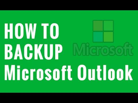 how to take backup of outlook 2013