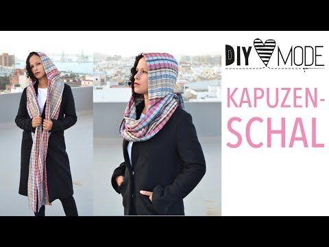 Kapuzenschal nähen mit Schnittmuster / DIY MODE Nähanleitung ...