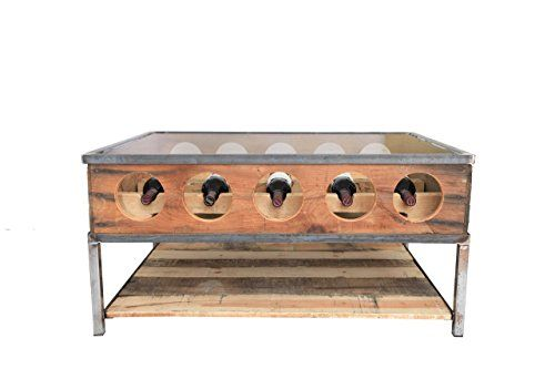 Wine rack coffee table *** Check out the image by visiting the link. (Amazon affiliate link)