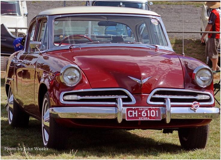 Red Studebaker car
