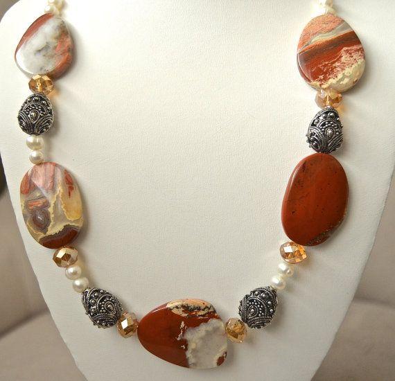 Red jasper necklace by BellaMiaJewelryCA on Etsy, $46.00