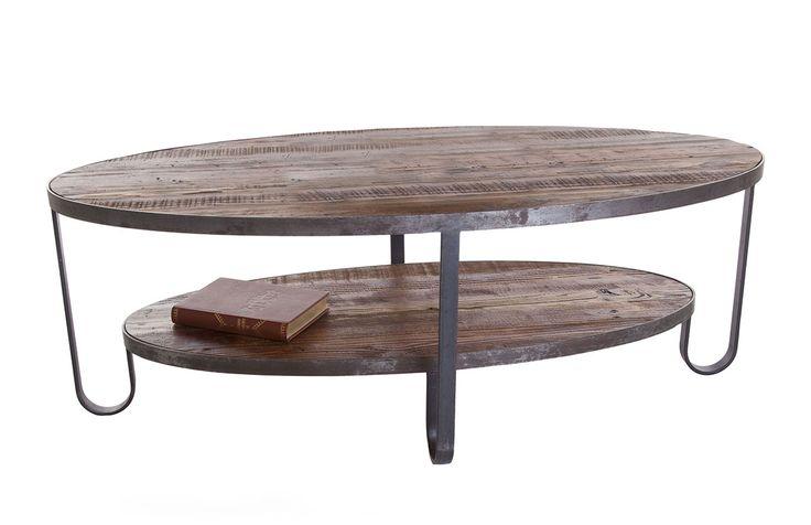 Bolivia soffbord i furu och metall. Den vackra furun med sin antikbehandlade finish möter den rustika metallen för en känsla av orienten i ditt vardagsrum. Soffbordet finns också i andra storlekar…