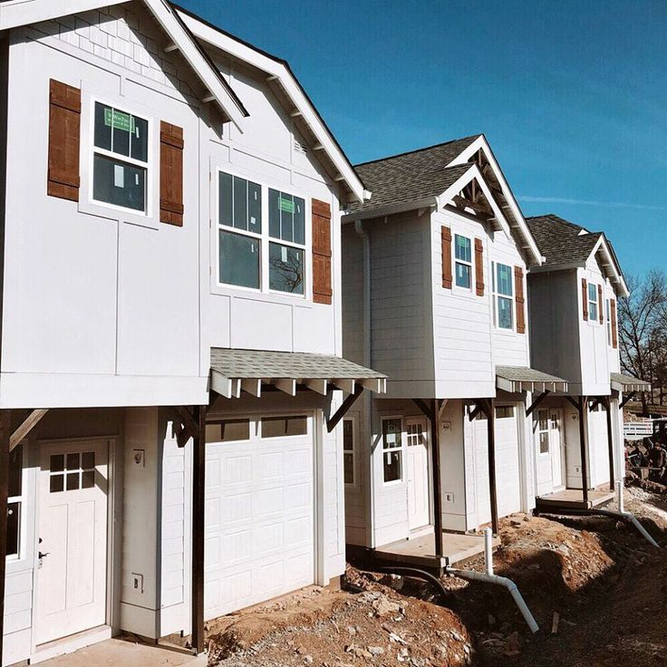 Close up new construction cottages available in