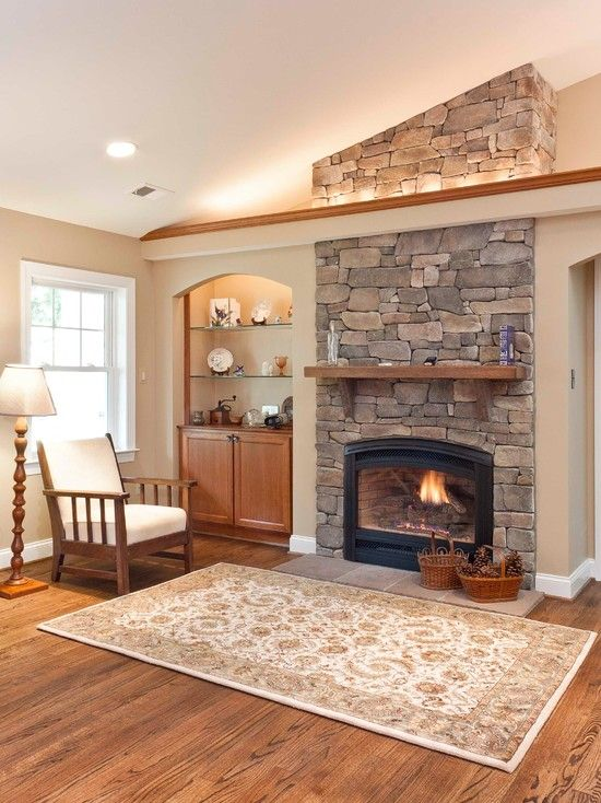 Compact Stone Fireplaces Design Ideas Pictures Remodel And Decor