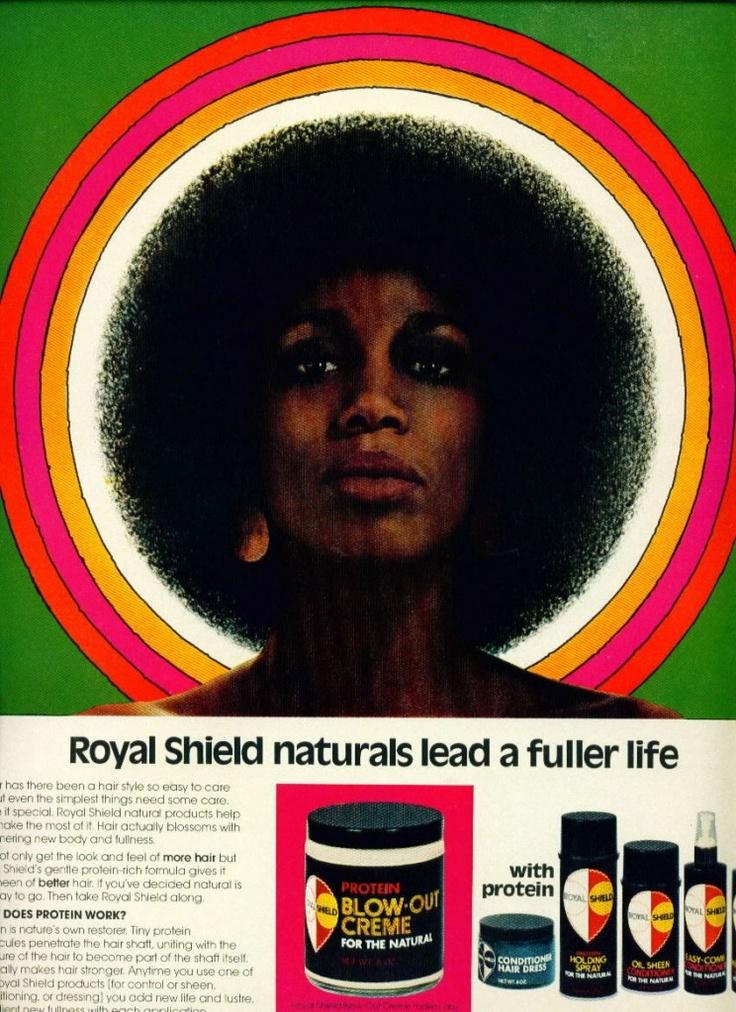 Love retro ads.: 1975 Hairstyles, Retro Ads, Royals Shield, Afro Art, Black Ads, Shield Ads, Beautiful Art, Natural Hair Art, Crowns Glories