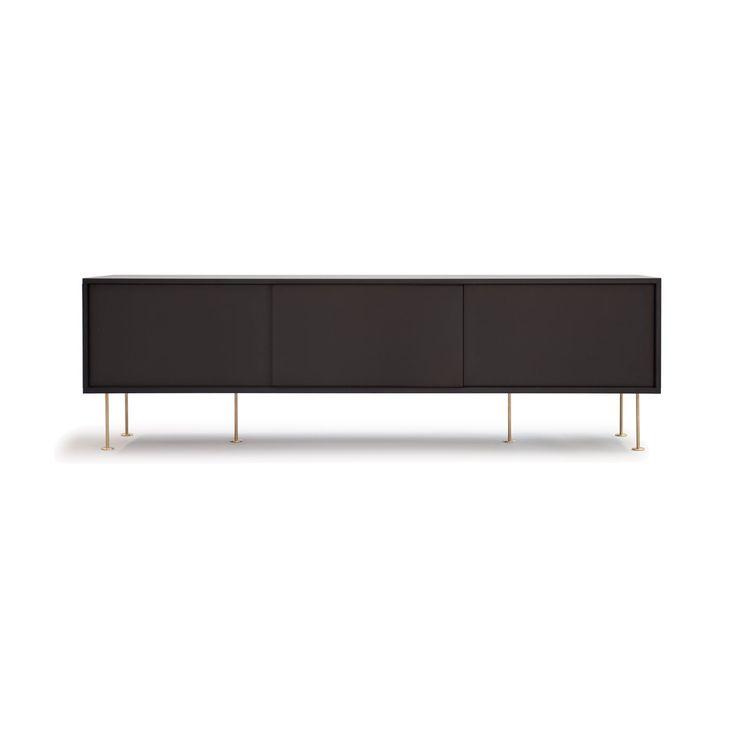 Vogue mediabänk 180, antracit svart i gruppen Möbler / Förvaring / TV-möbler hos RUM21.se (132566)