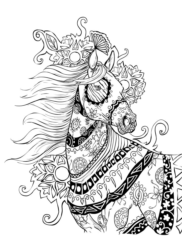 Horse coloring page | Selah Works                              …