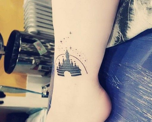 Disney Castle Tattoo on Ankle