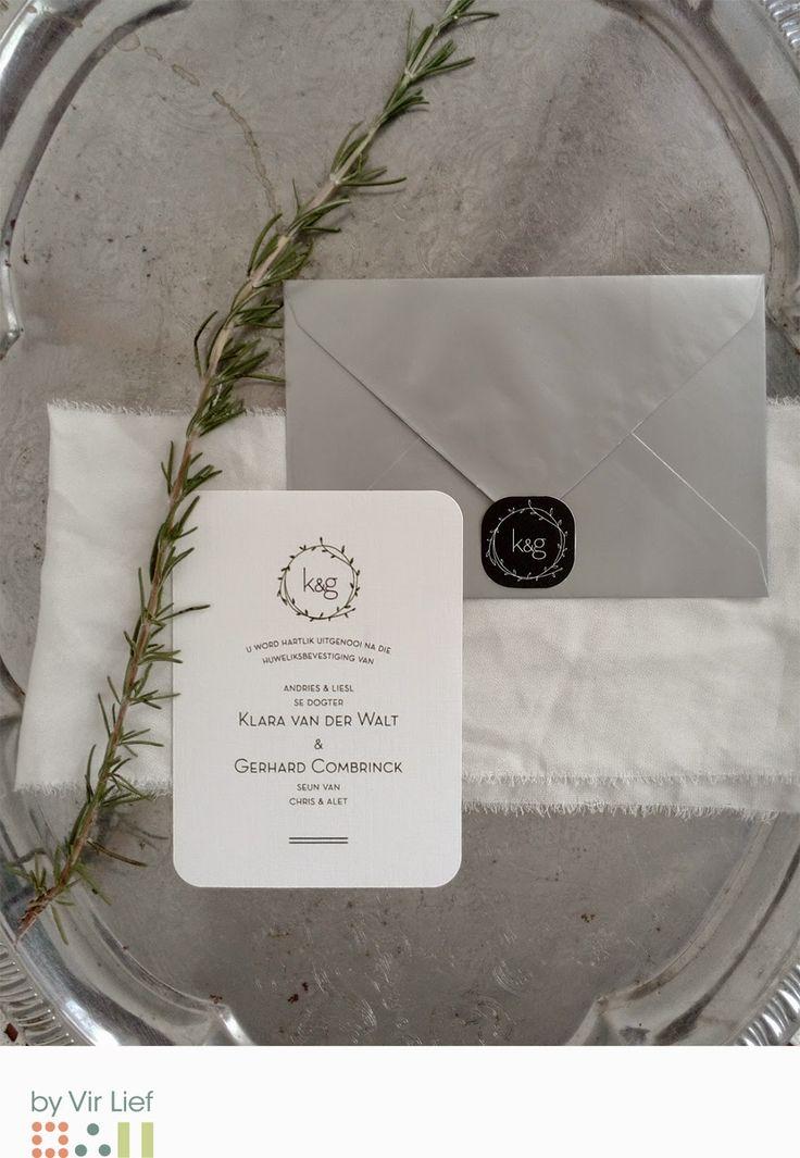 Elegant wedding invitation by Vir Lief