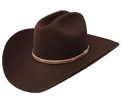 84bdab97d8695 Resistol 6X George Strait Kingman Beaver Fur Felt Western Cowboy Hat-Chocolate