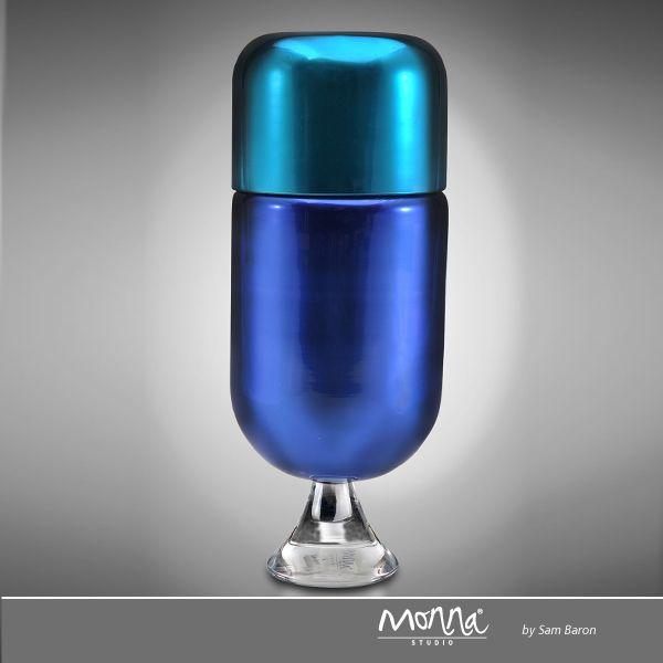 Trompette Lui design Sam Baron  CODE : SB0209 SIZE : 20cm 8'' DESCRIPTION : Glass/Crystal Box COLOR : Night Blue&Turquoise