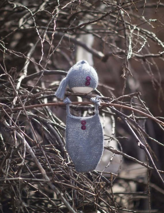 Gray Baby Boy Romper and bonnet Newborn romper by GabriCollection