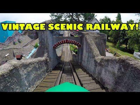 Scenic Railway Vintage Wooden Roller Coaster Hochschaubahn Wiener Prater Onride POV Vienna Austria - YouTube