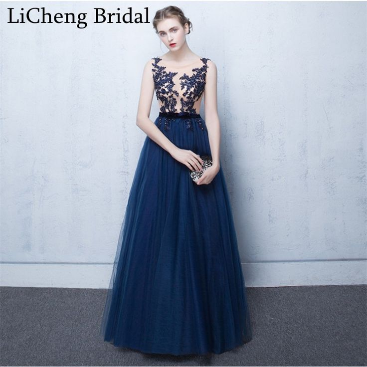 Find More Prom Dresses Information about Elegant flower lace Appliques prom dress long scoop prom dress ball gown for prom party dress instock robe de soiree 2017,High Quality dresses for plus size woman,China dress paillette Suppliers, Cheap dresses gowns uk from SuZhou F&M Wedding Dress Co.,Ltd on Aliexpress.com