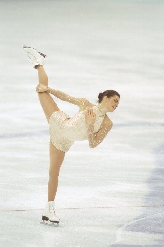 nancy kerrigan | Figure Skating Costumes - Nancy Kerrigan wearing a dress designed by ...