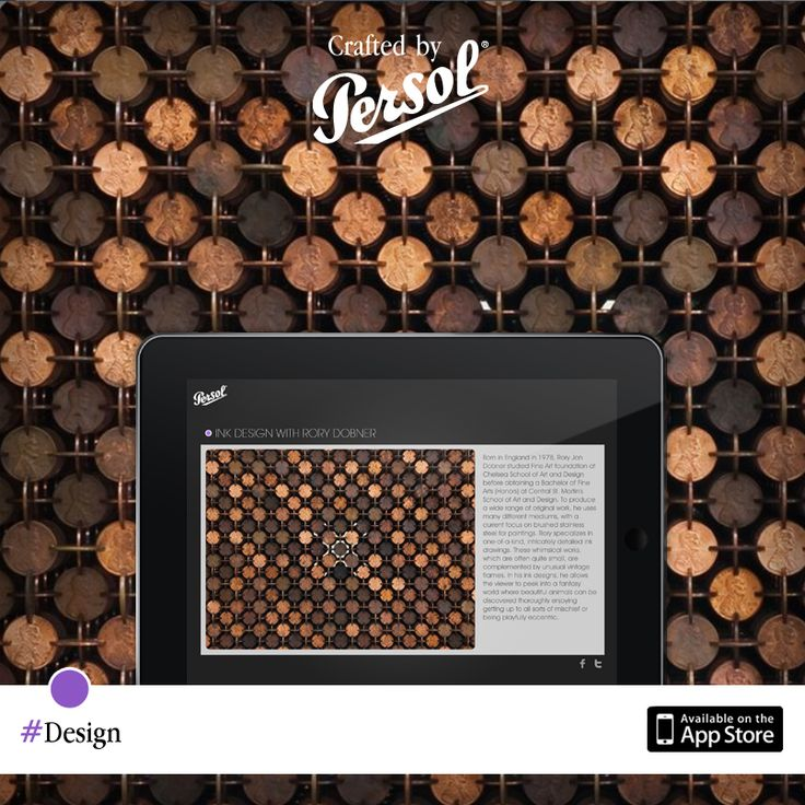 Discover craftsmanship in design on our new iPad app, CraftedxPersol. Free download @ pers.sl/Q4wMuS