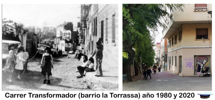 Carrer Transformador Barrio La Torrassa Año 1980 Y 2020 Transformadores