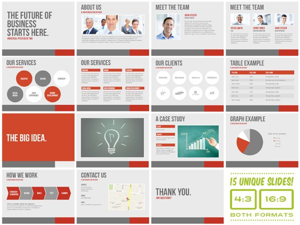 Universal Pitch Deck Two PowerPoint Template by PitchStock , via Behance